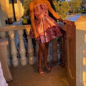 Floral Mauve Wine Color dress